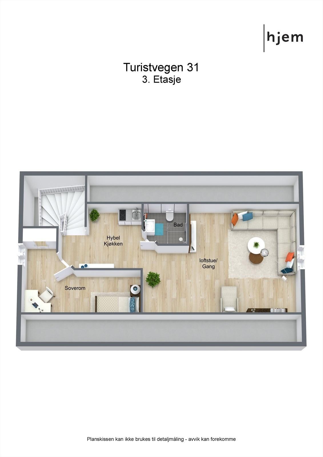 3D planillustrasjon loft