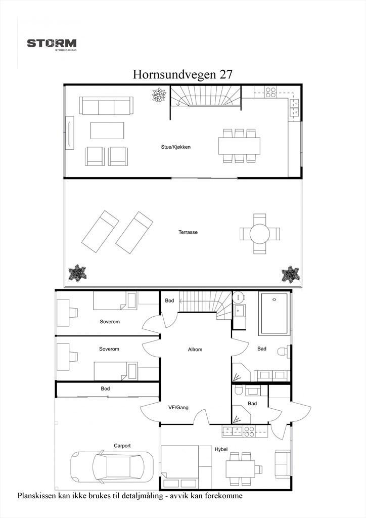 2D planillustrasjon samlet plan