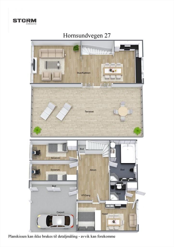 3D planillustrasjon samlet plan