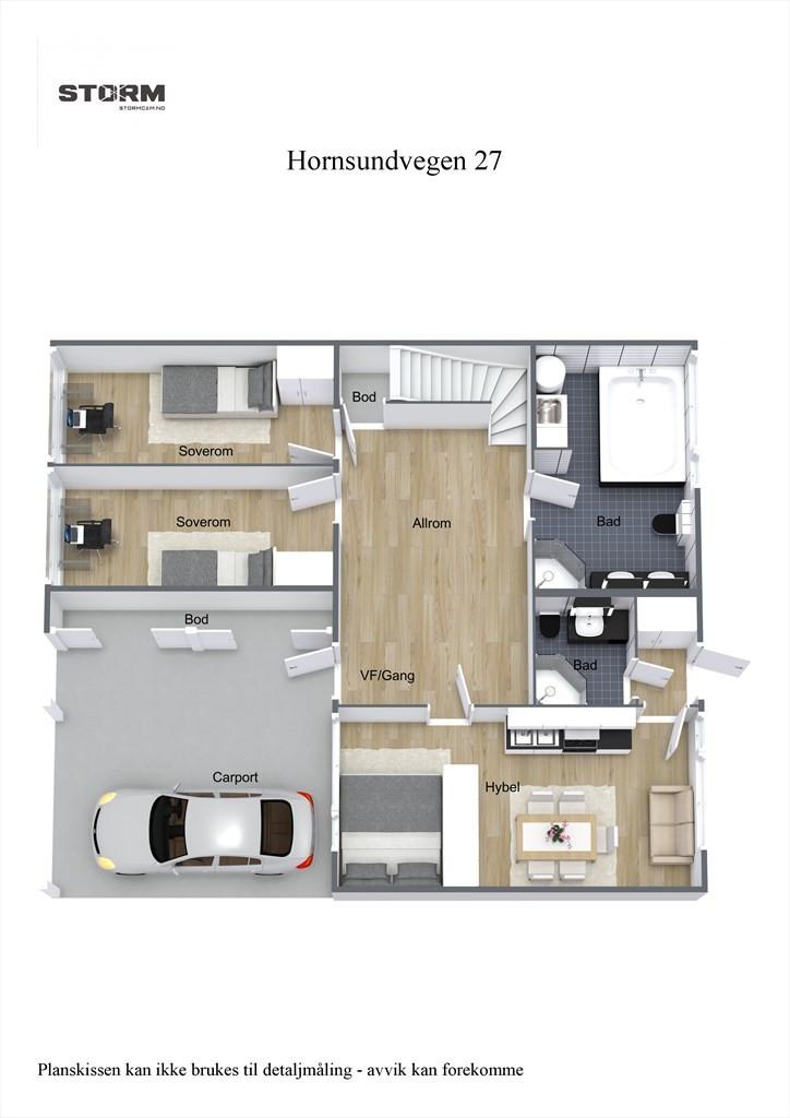 3D planillustrasjon 1.etg