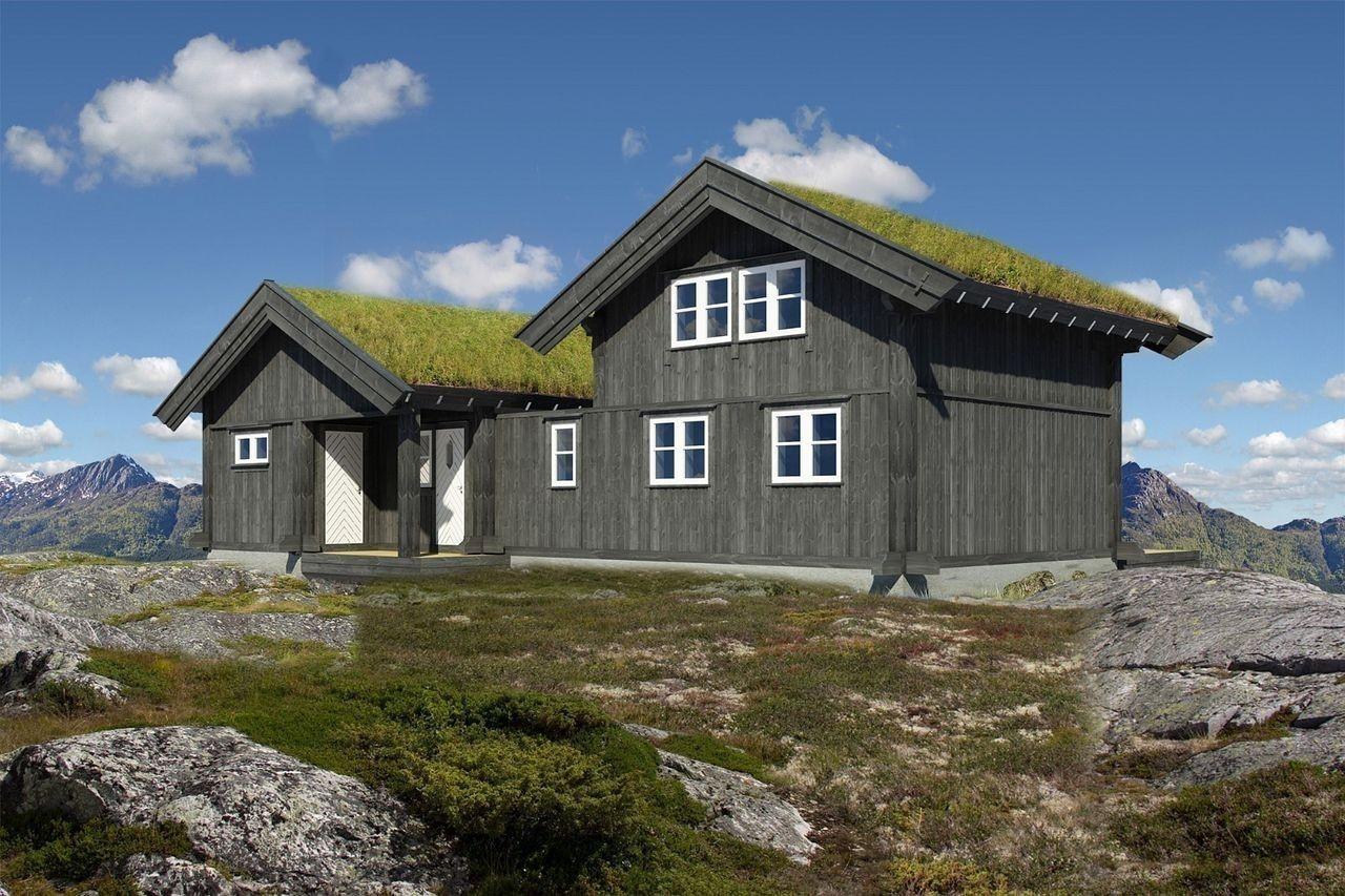 Illustrasjon tilsvarende hytte