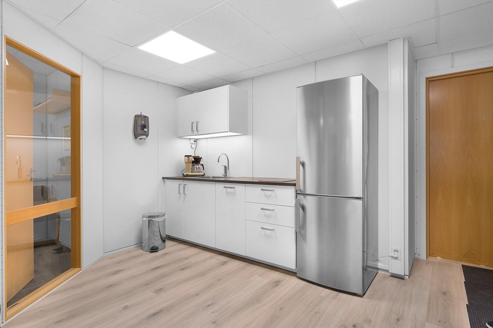 Eksempel på kjøkkenløsning i bygget.