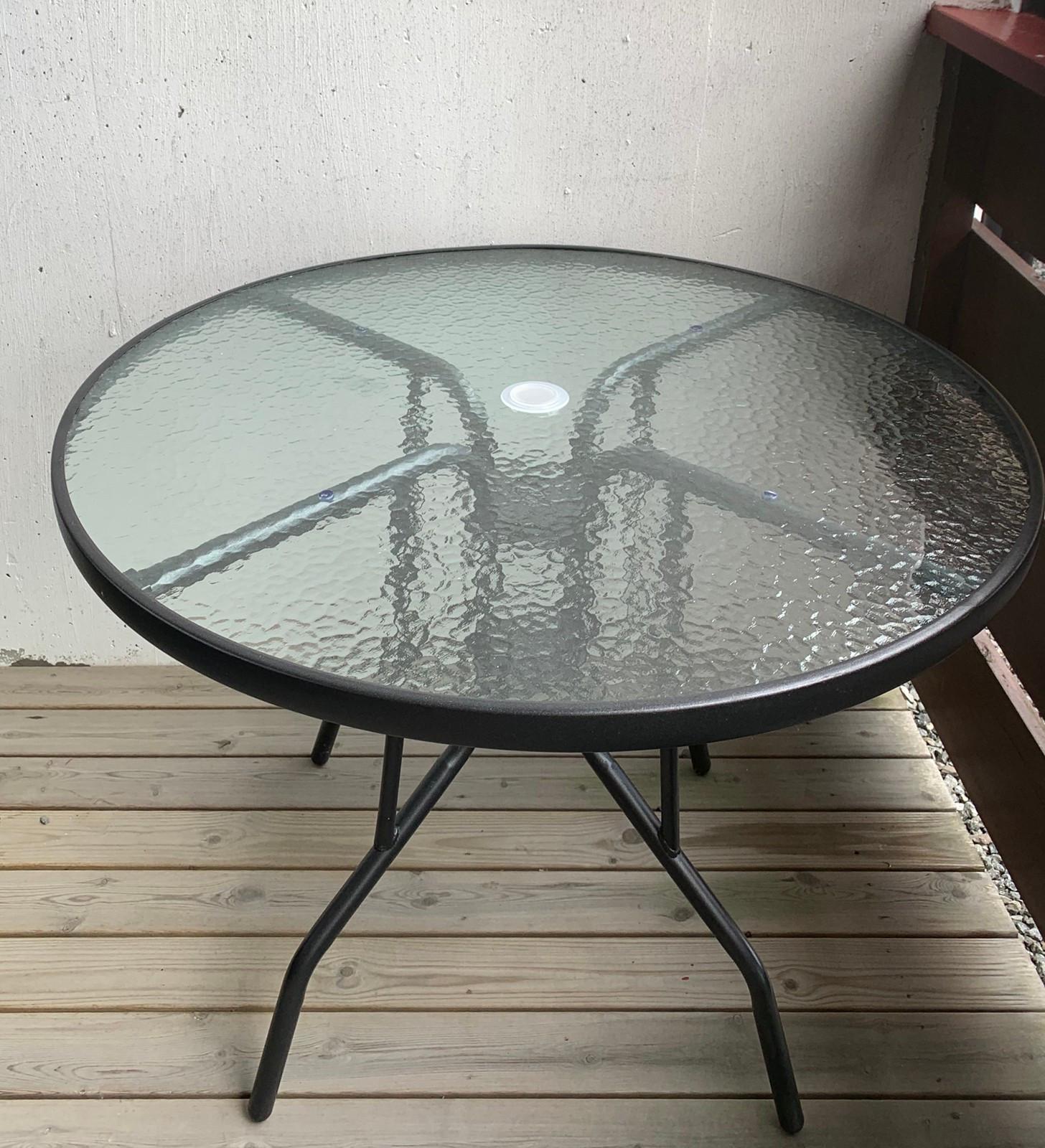 Glassplate til rundt bord Antony | FINN.no