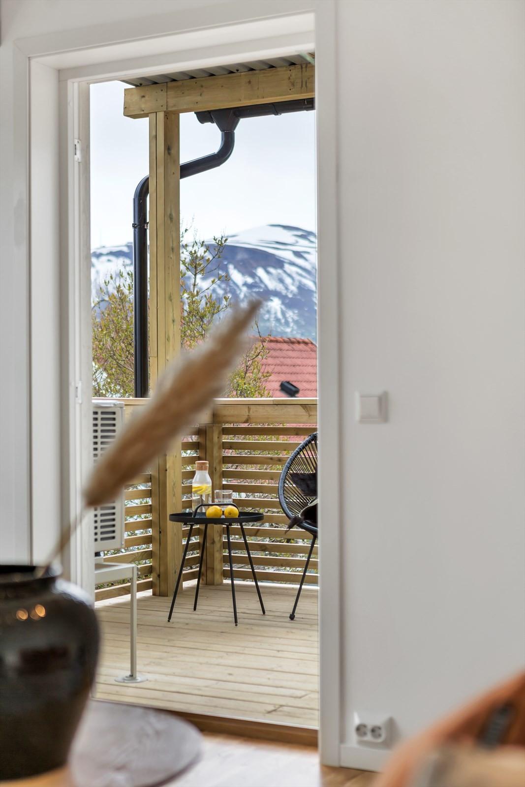 Utgang til veranda