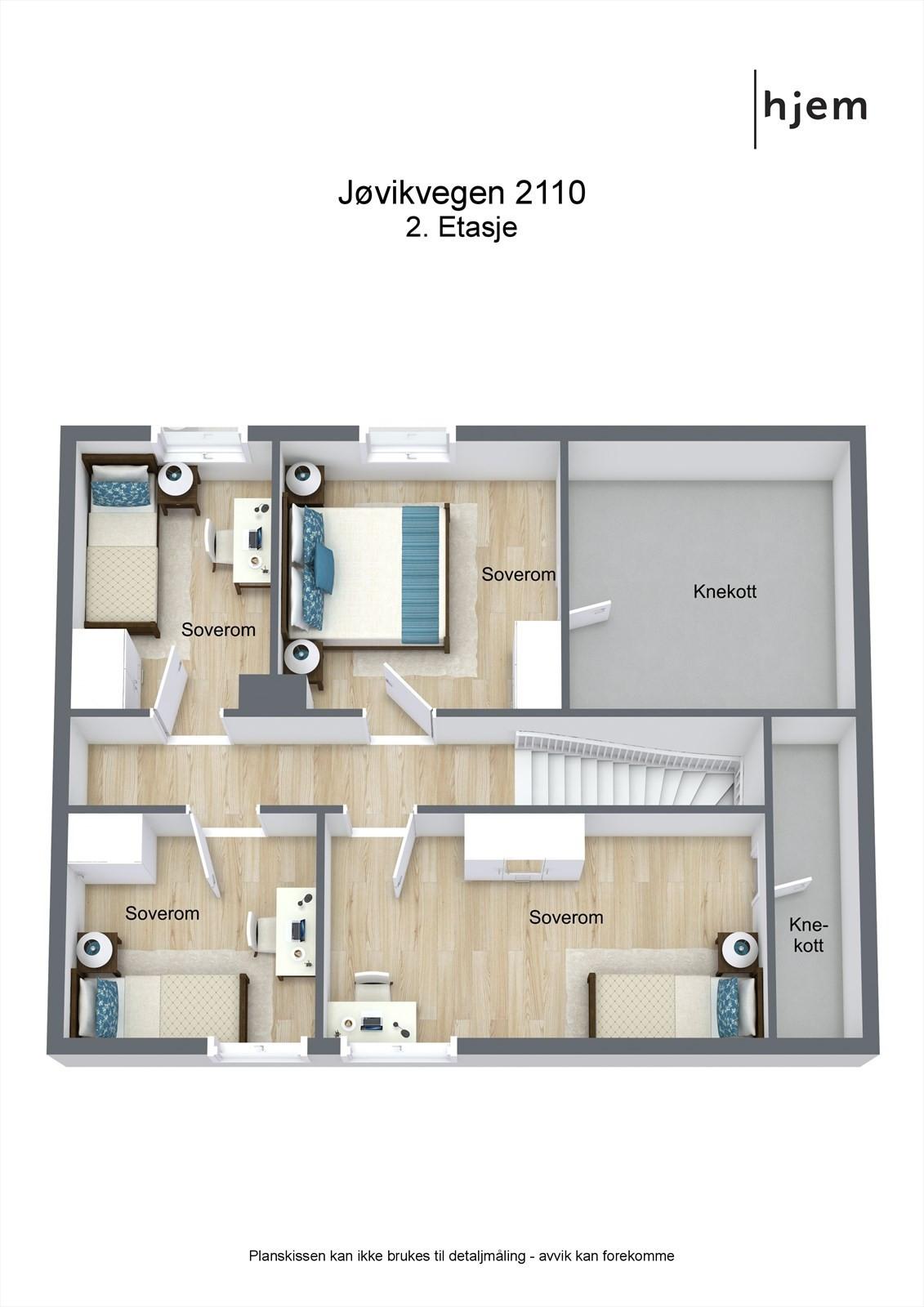 Floorplan letterhead - Jøvikvegen 2110 - 2. Etasje - 3D Floor Plan
