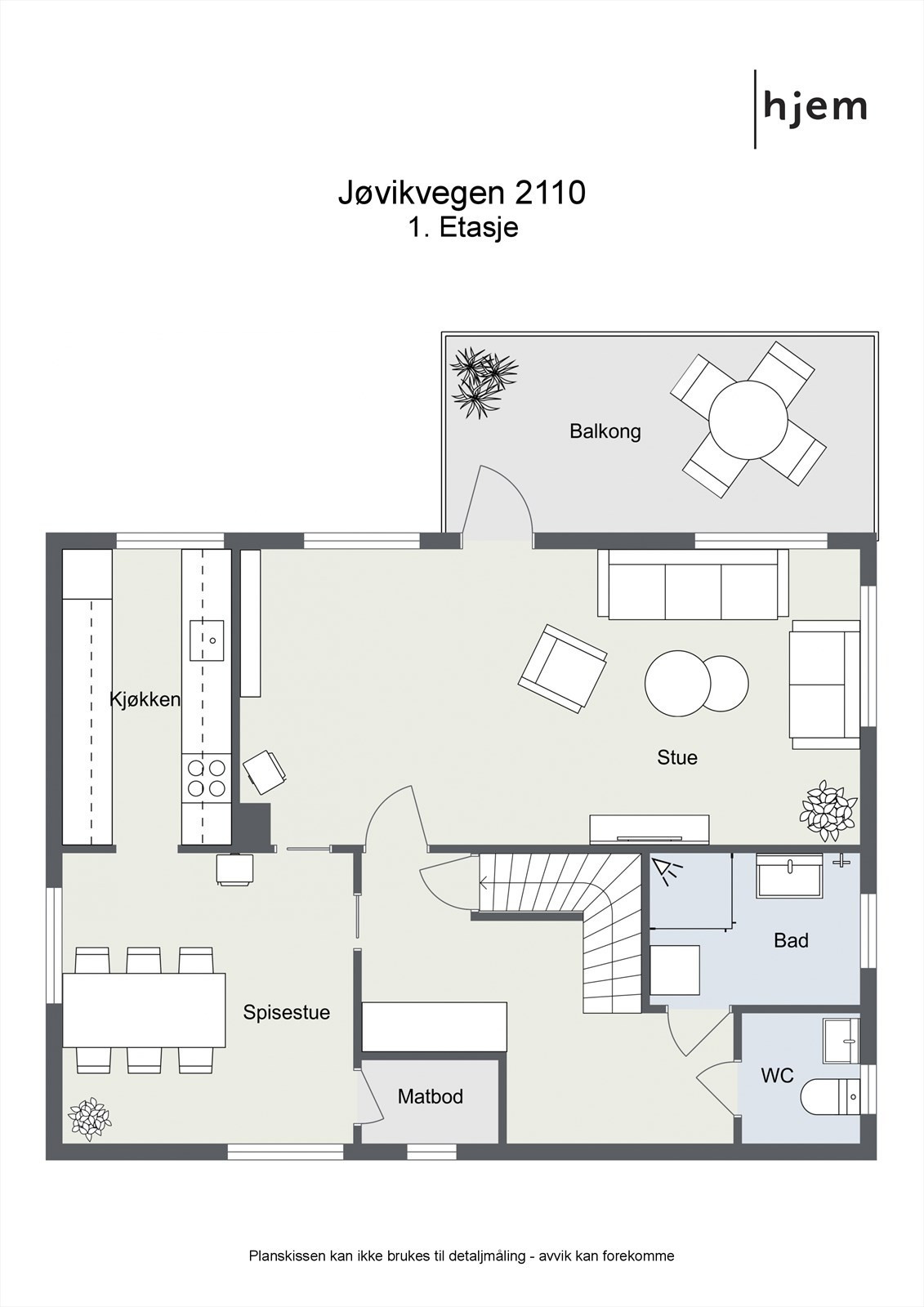 Floorplan letterhead - Jøvikvegen 2110 - 1. Etasje - 2D Floor Plan