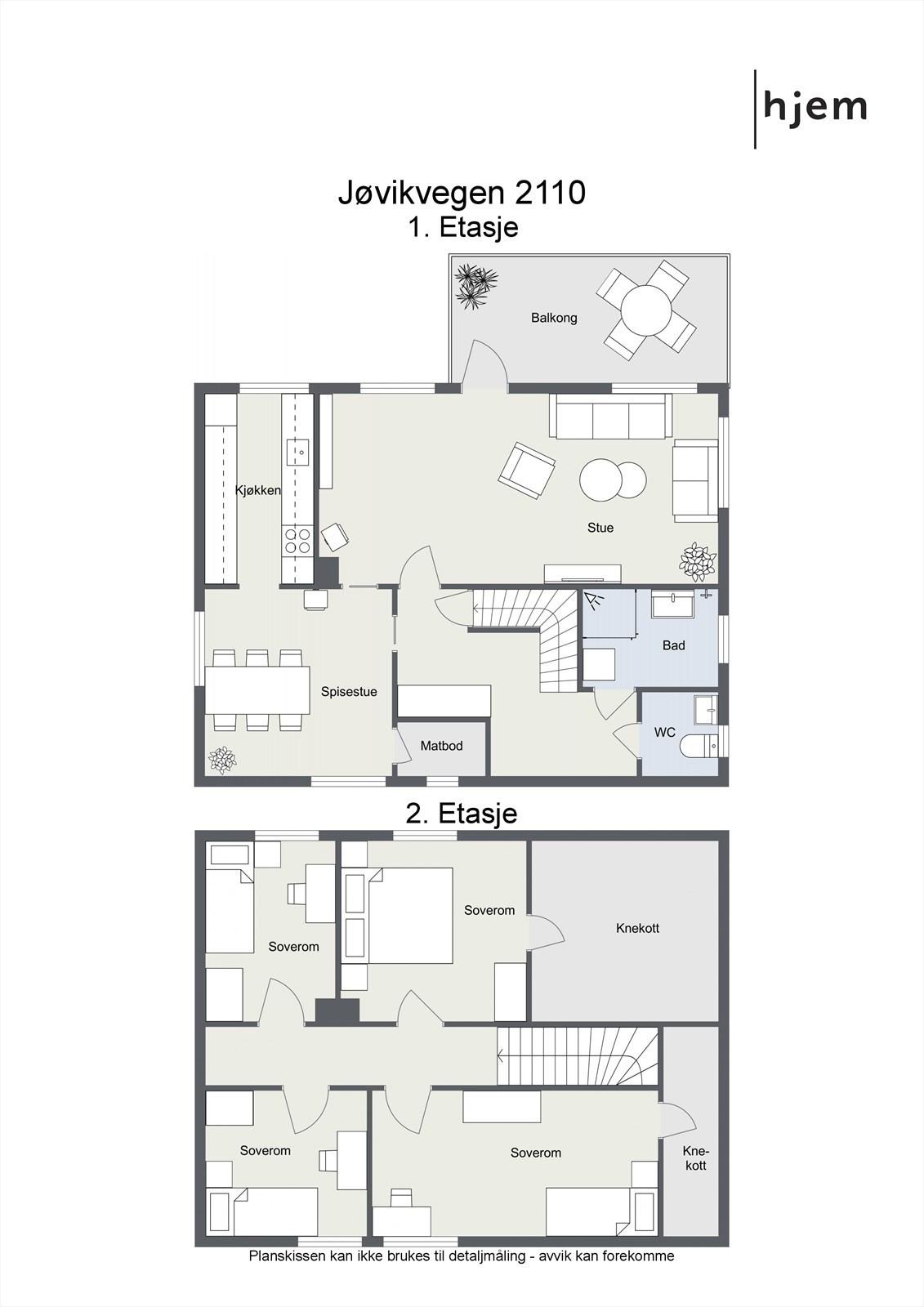 Project letterhead - Jøvikvegen 2110 - 2D Floor Plan
