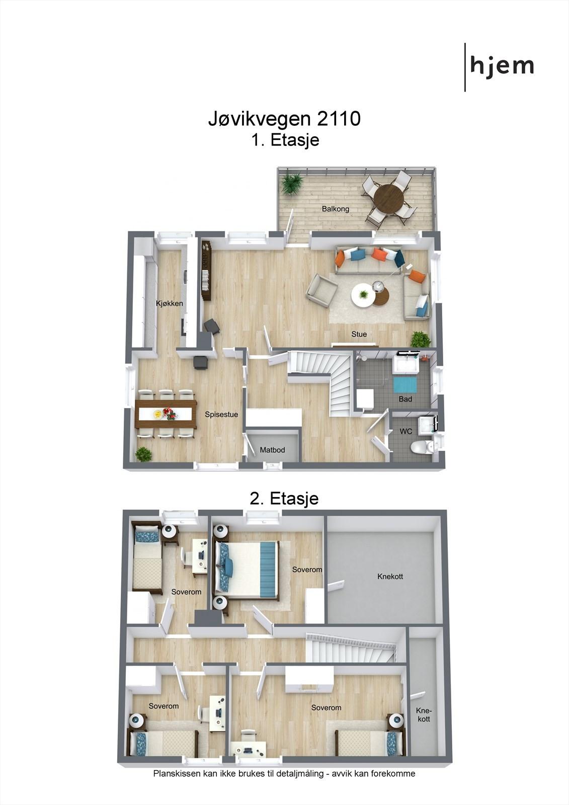 Project letterhead - Jøvikvegen 2110 - 3D Floor Plan