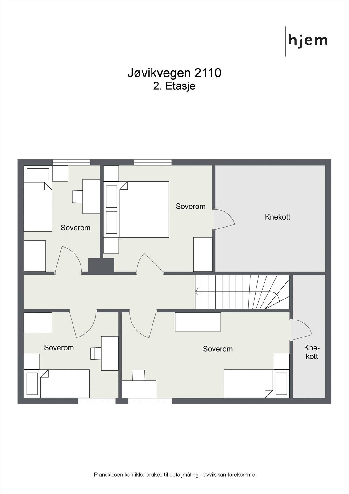 Floorplan letterhead - Jøvikvegen 2110 - 2. Etasje - 2D Floor Plan