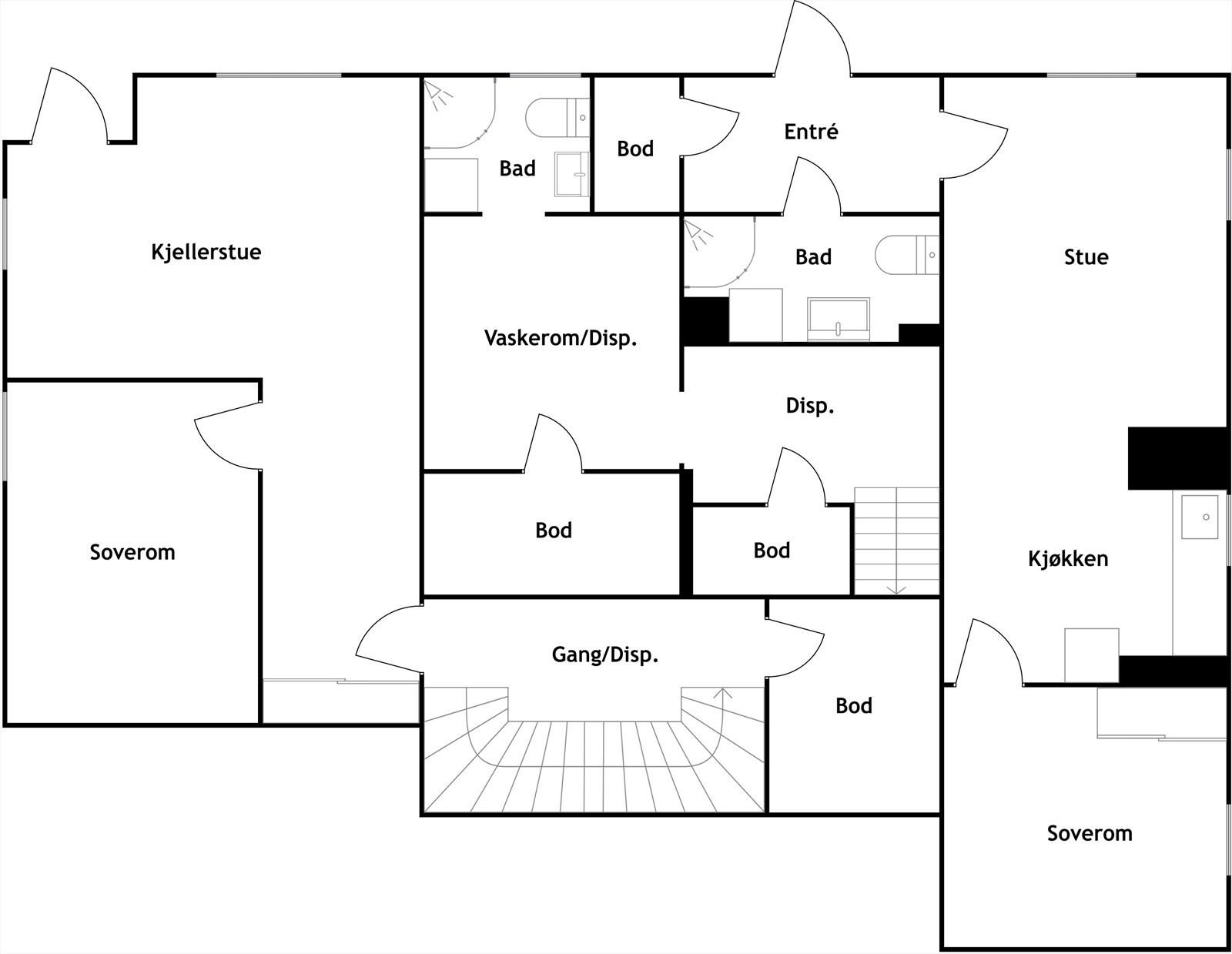 Plantegning u. etasje, 2d