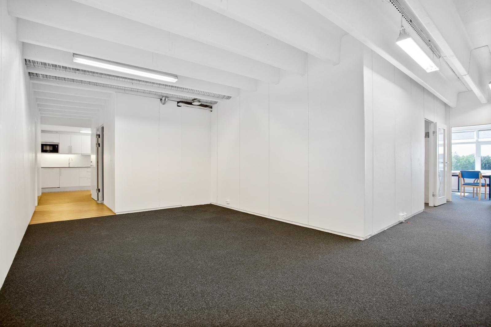 Deler av lokalet er i dag åpent landskap
