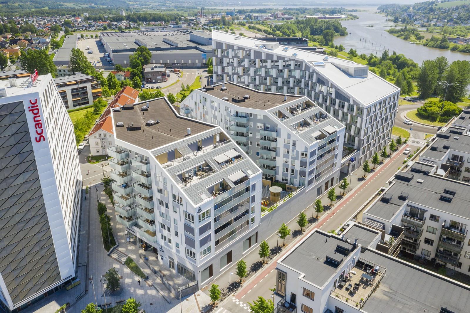 Beliggende i Portalen, et nytt og moderne kvartal i Lillestrøm sentrum