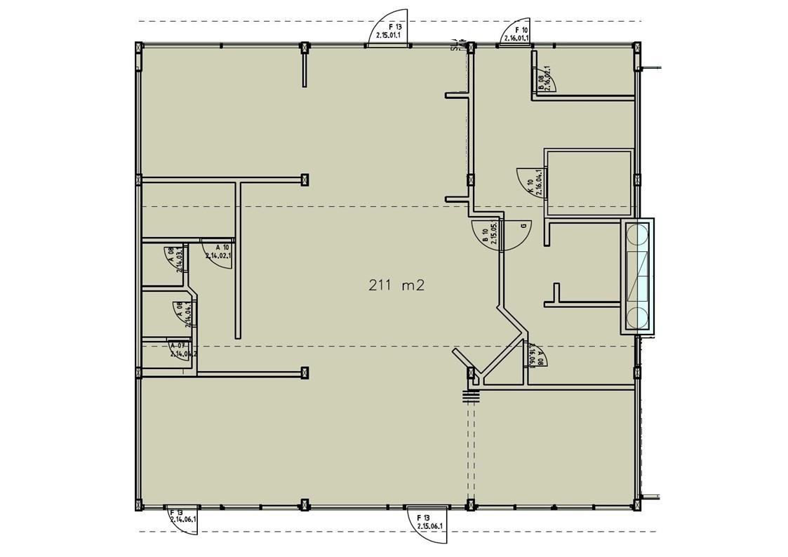 Planskisse - ledig areal (inndeling avviker noe ift. dagens inndeling av lokalet