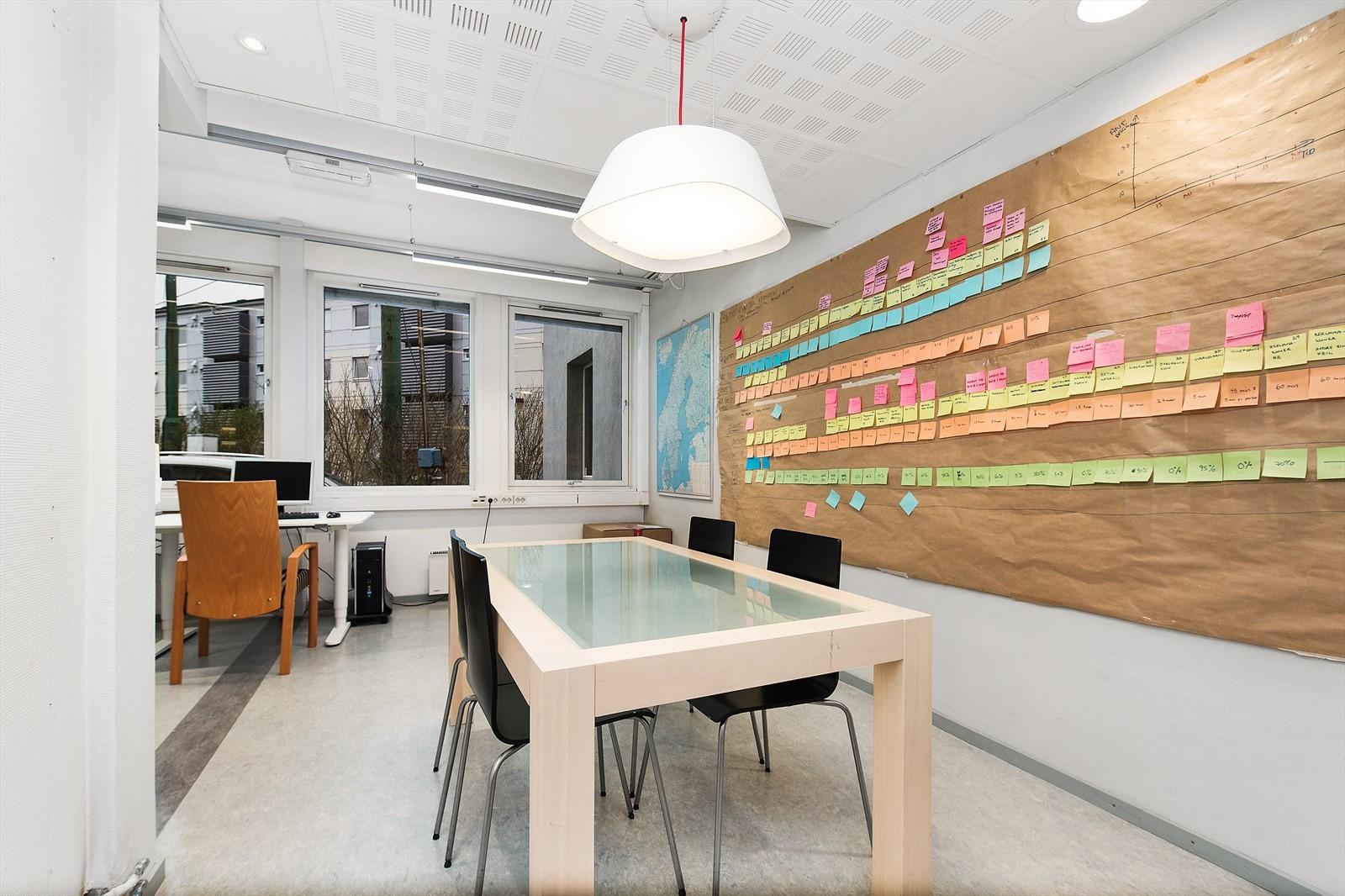 Pene lokaler med møterom.
