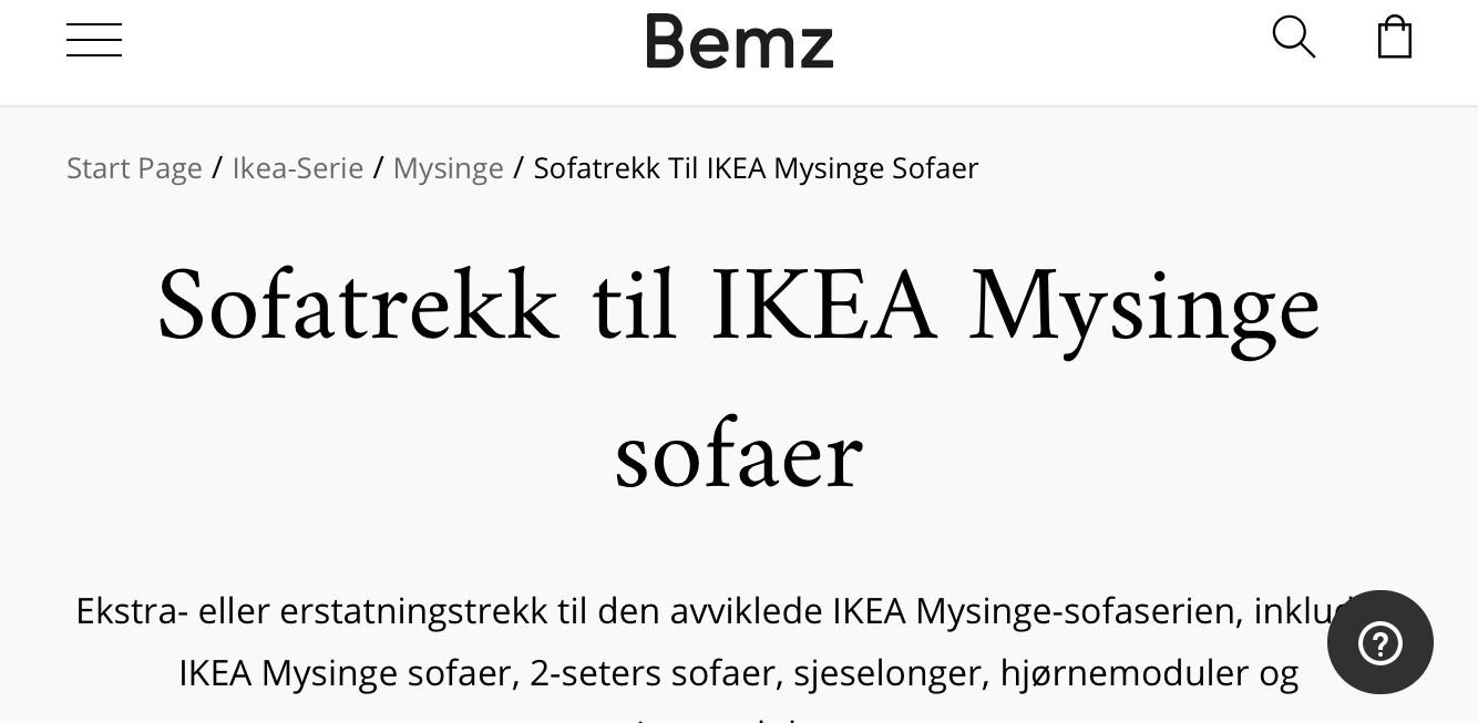 Erstatningstrekk til IKEA stoler | krakketrekk | Bemz