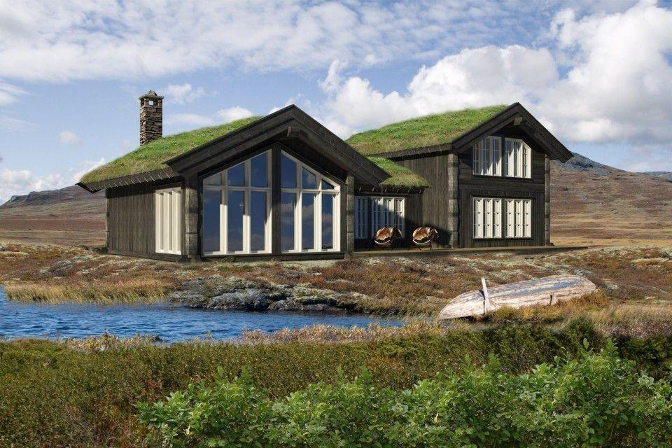 Bilde fra en tilsvarende (noe større) hytte med noen kunde tilvalg og spennende tilpasninger