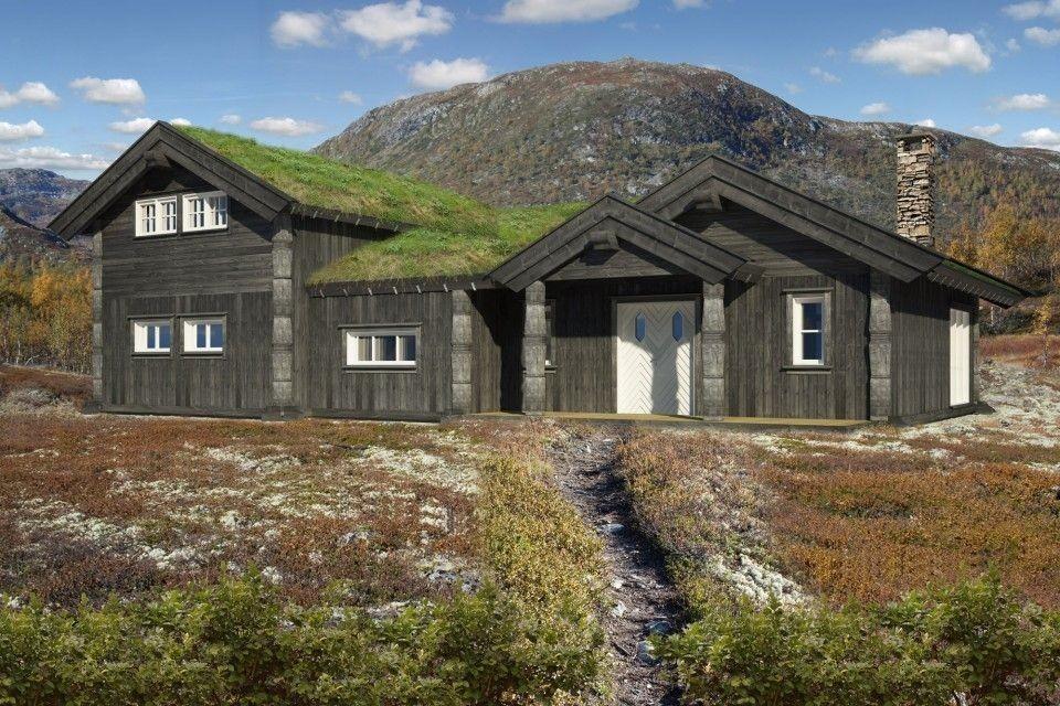 Bilde fra en tilsvarende (noe større) hytte med noen kunde tilvalg og tilpasninger
