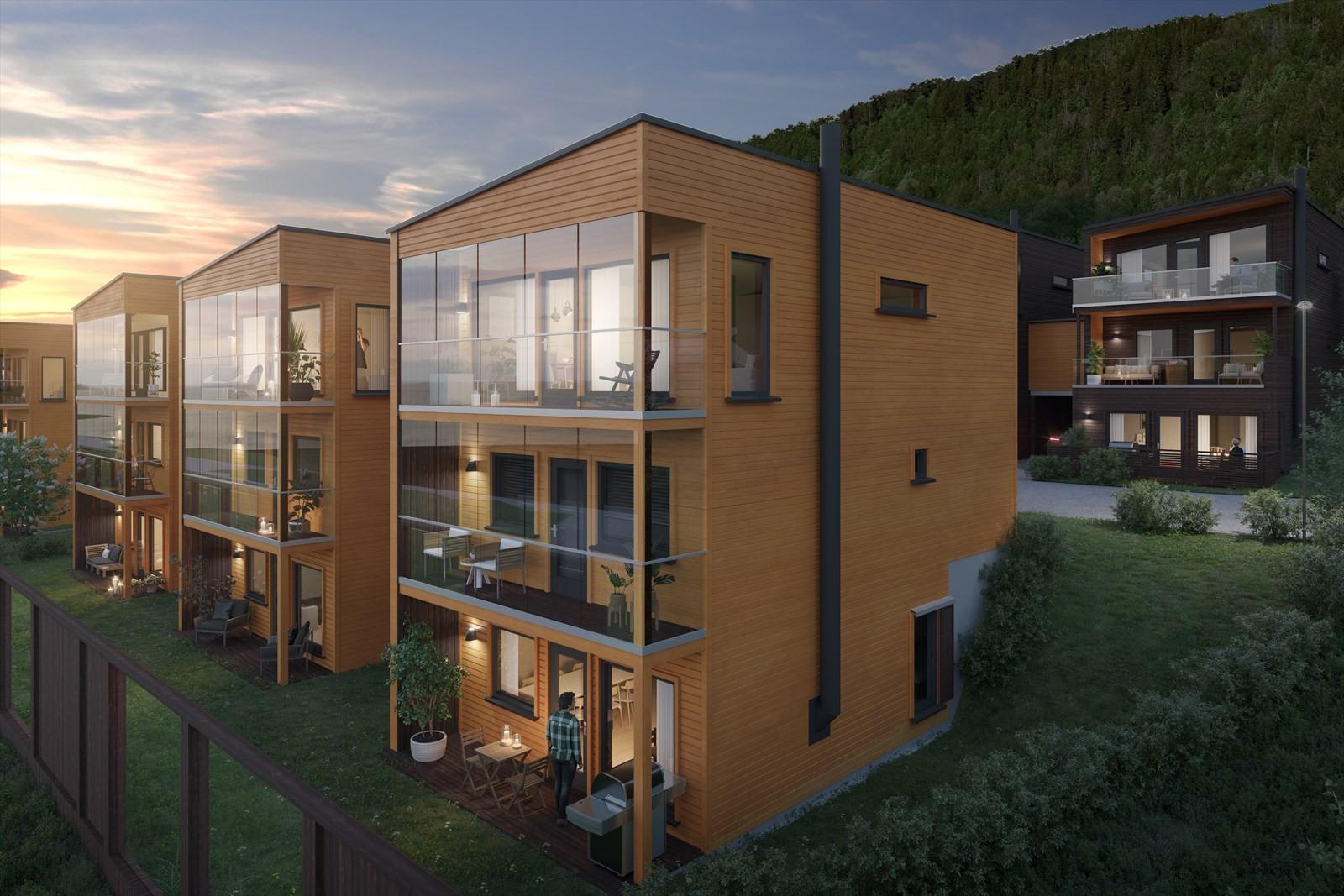 Fløylia er det nyeste boligprosjektet på fastlandet og vil bestå av eneboliger, rekkehus og leiligheter