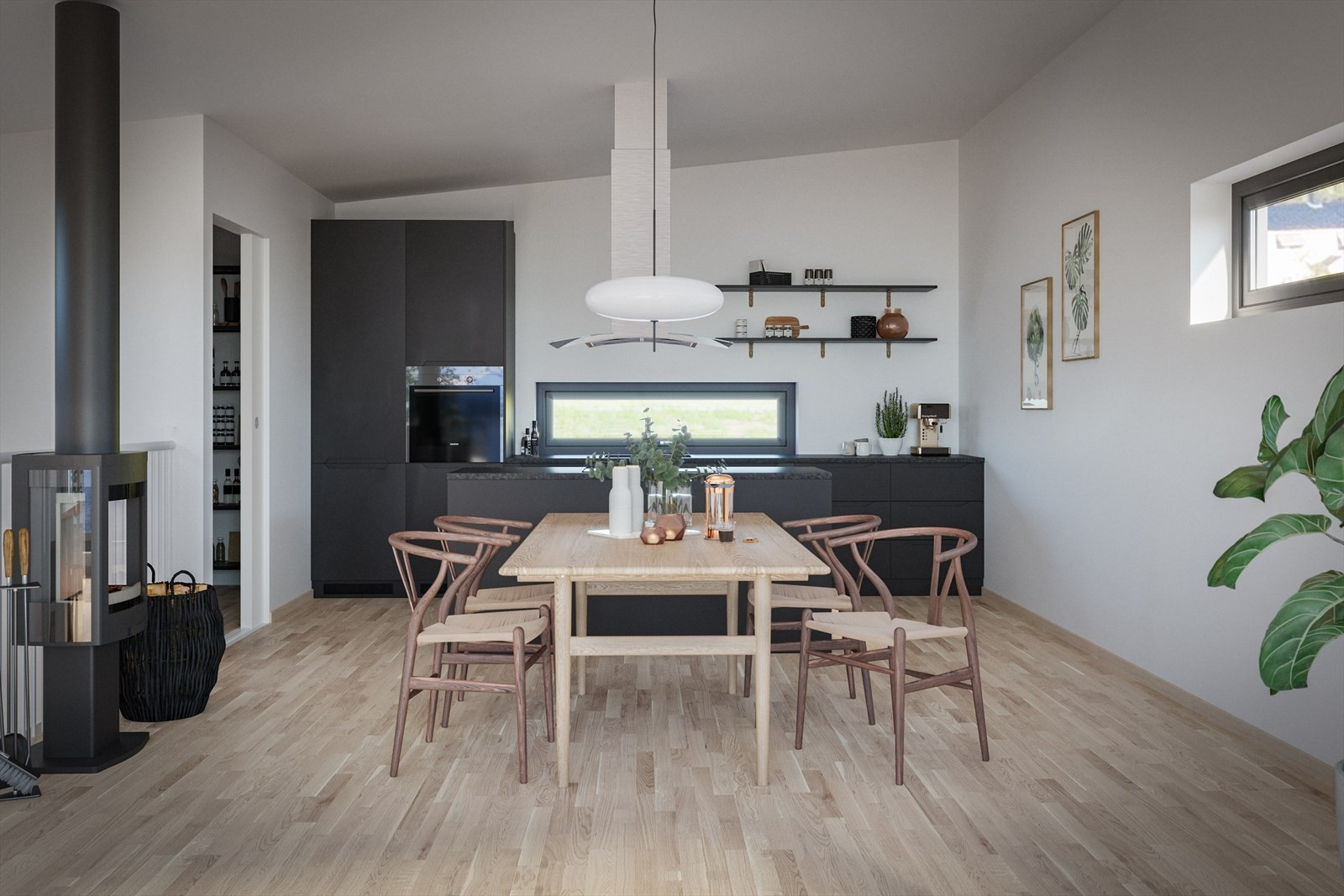 Nydelige kjøkken i hus 10B til 15B