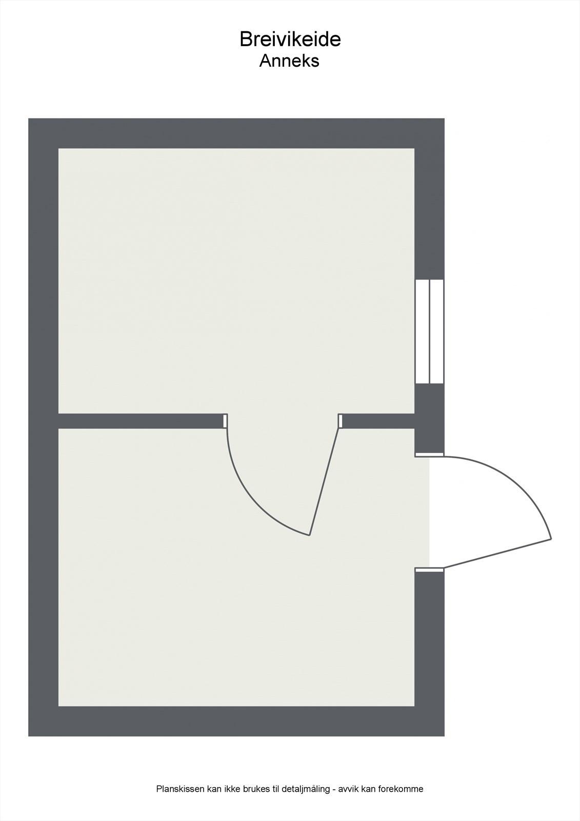 Uthuset er isolert med 2 rom.