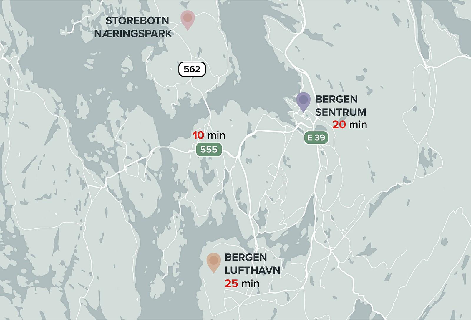 Avstandskart Storebotn 69.