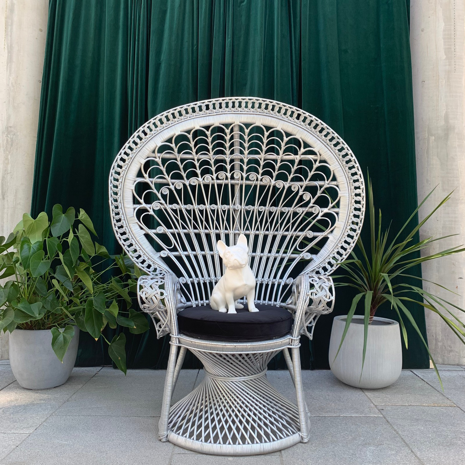 SALG! Påfuglstol Peacock stol i sølv | FINN.no