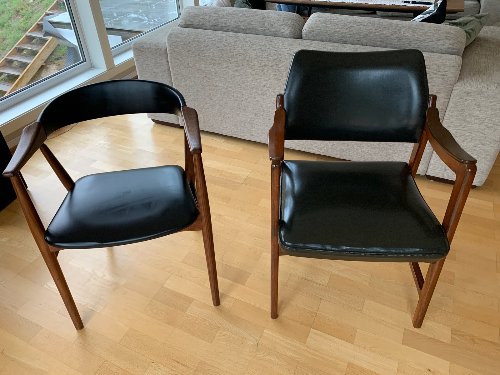 Stoler retro Olav Haug stol og Farstrup 50 tallet med teak