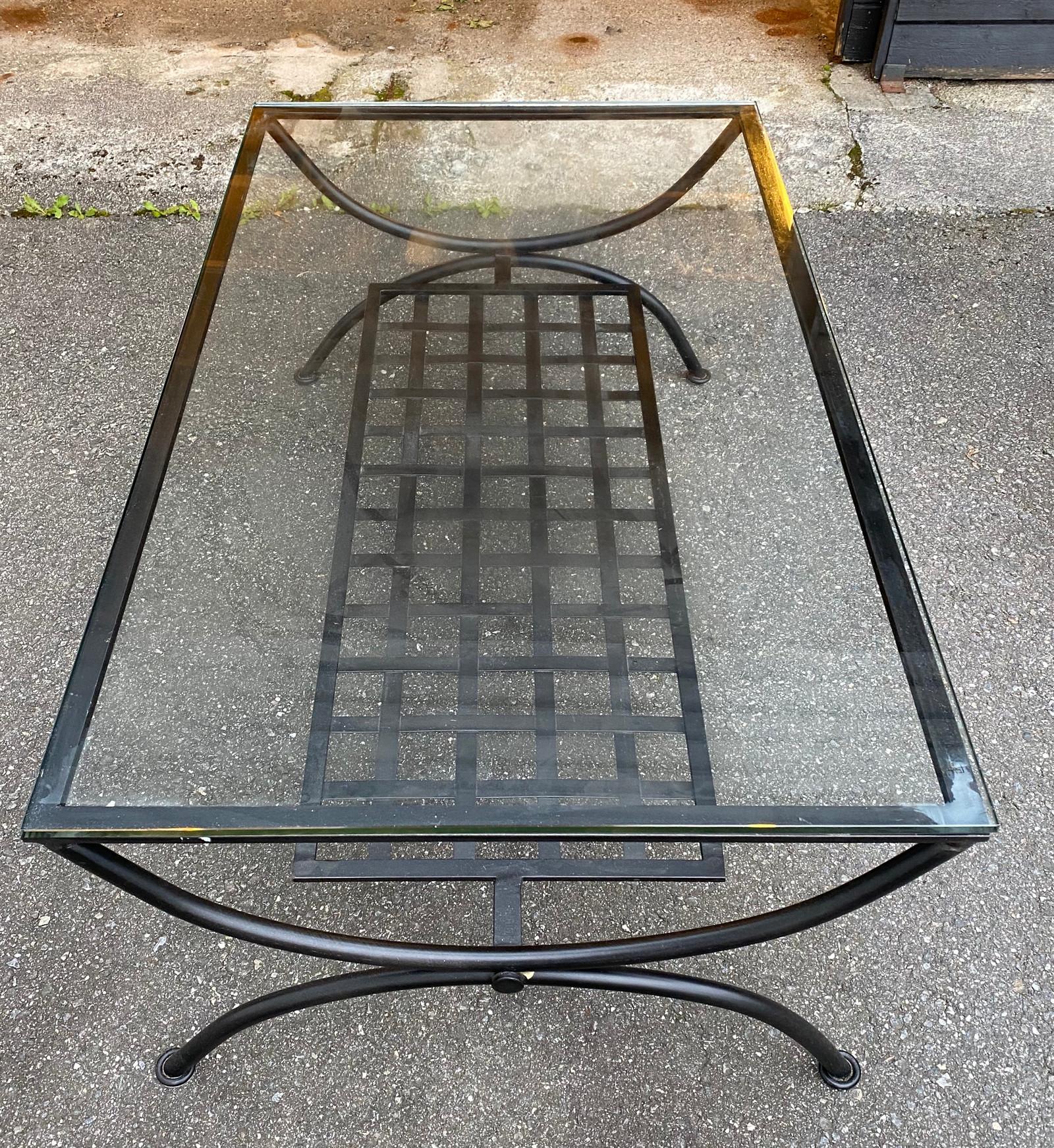 Salongbord i smijern og glass +sidebord | FINN.no