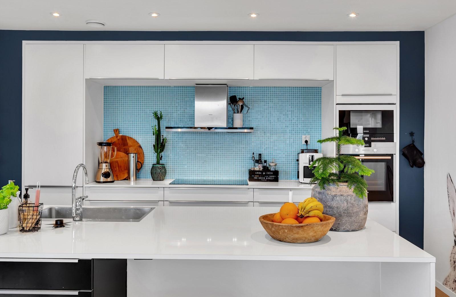 Nydelig kjøkkeninnredning og detaljer