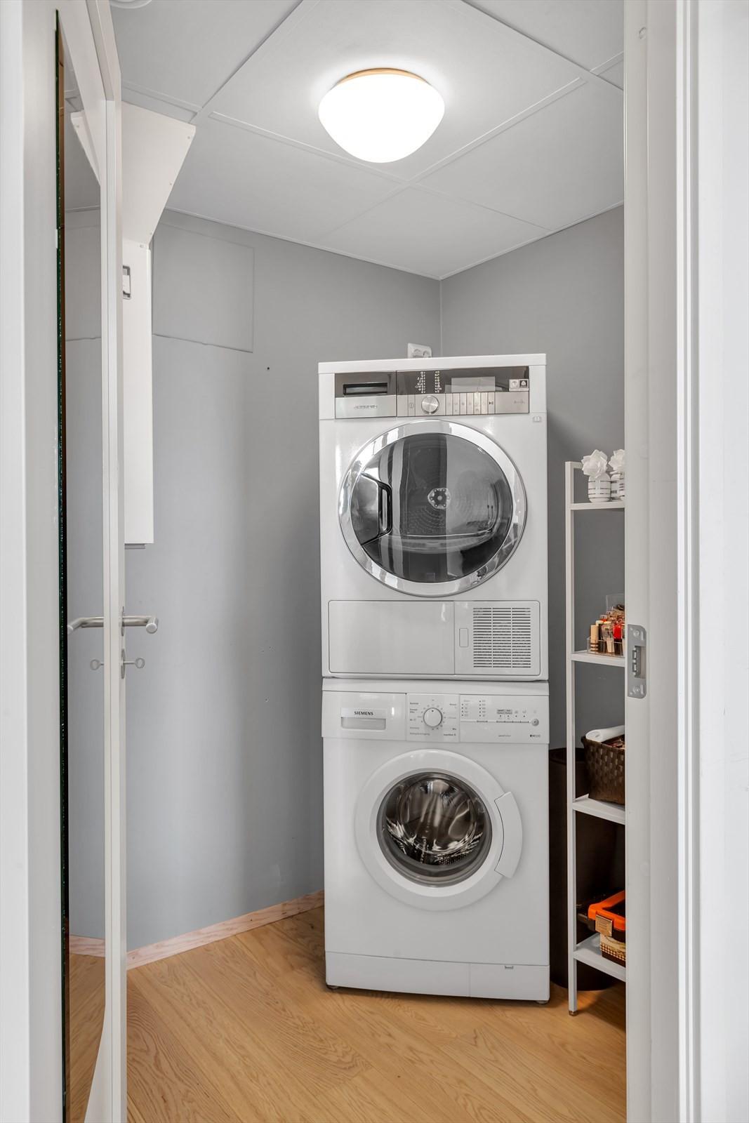 Bodrom som kan benyttes som vaskerom eller walk-in-closet