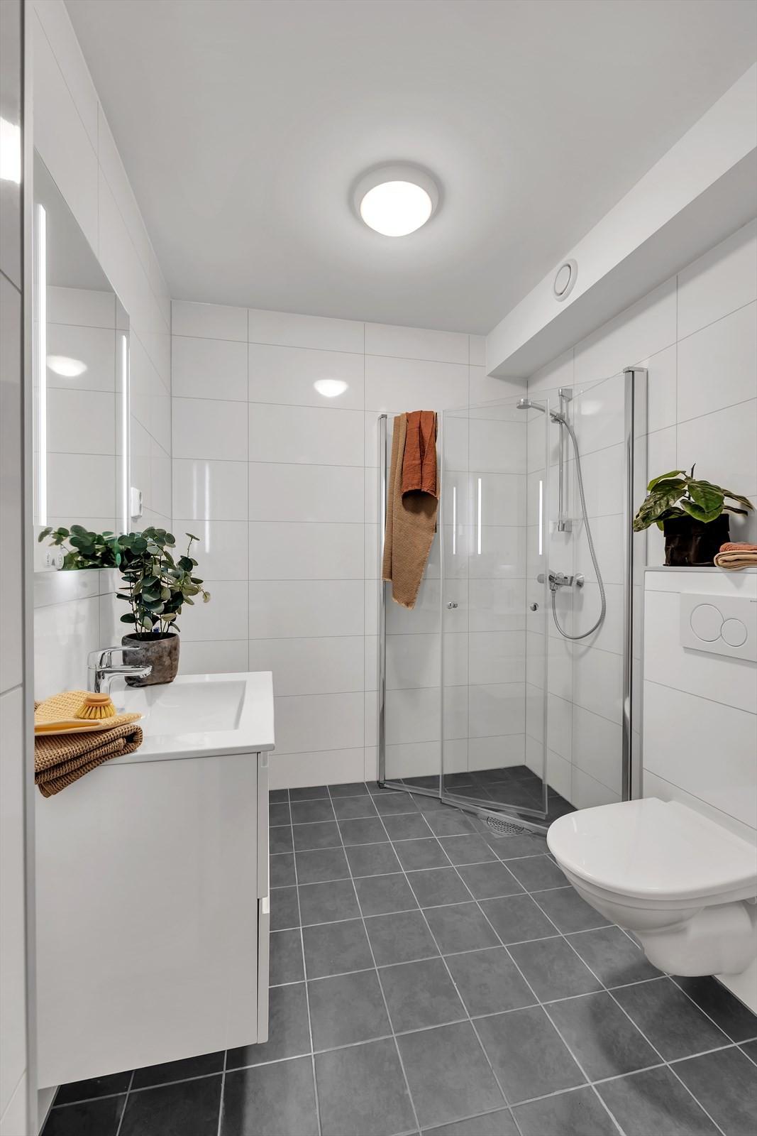 Bad i tilknytning til master bedroom / hybelutleie