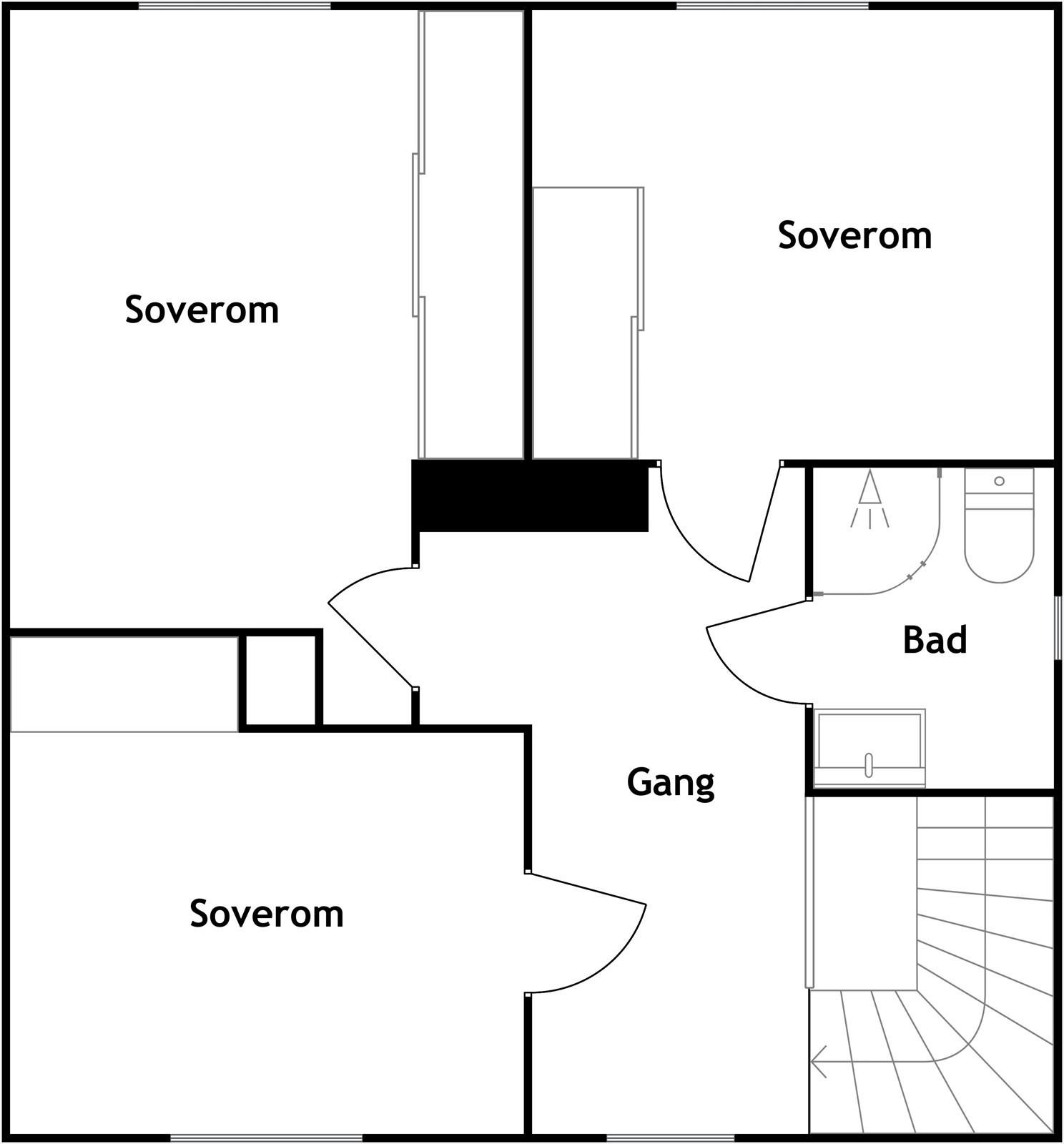 Plantegning, 2. etasje, 2d