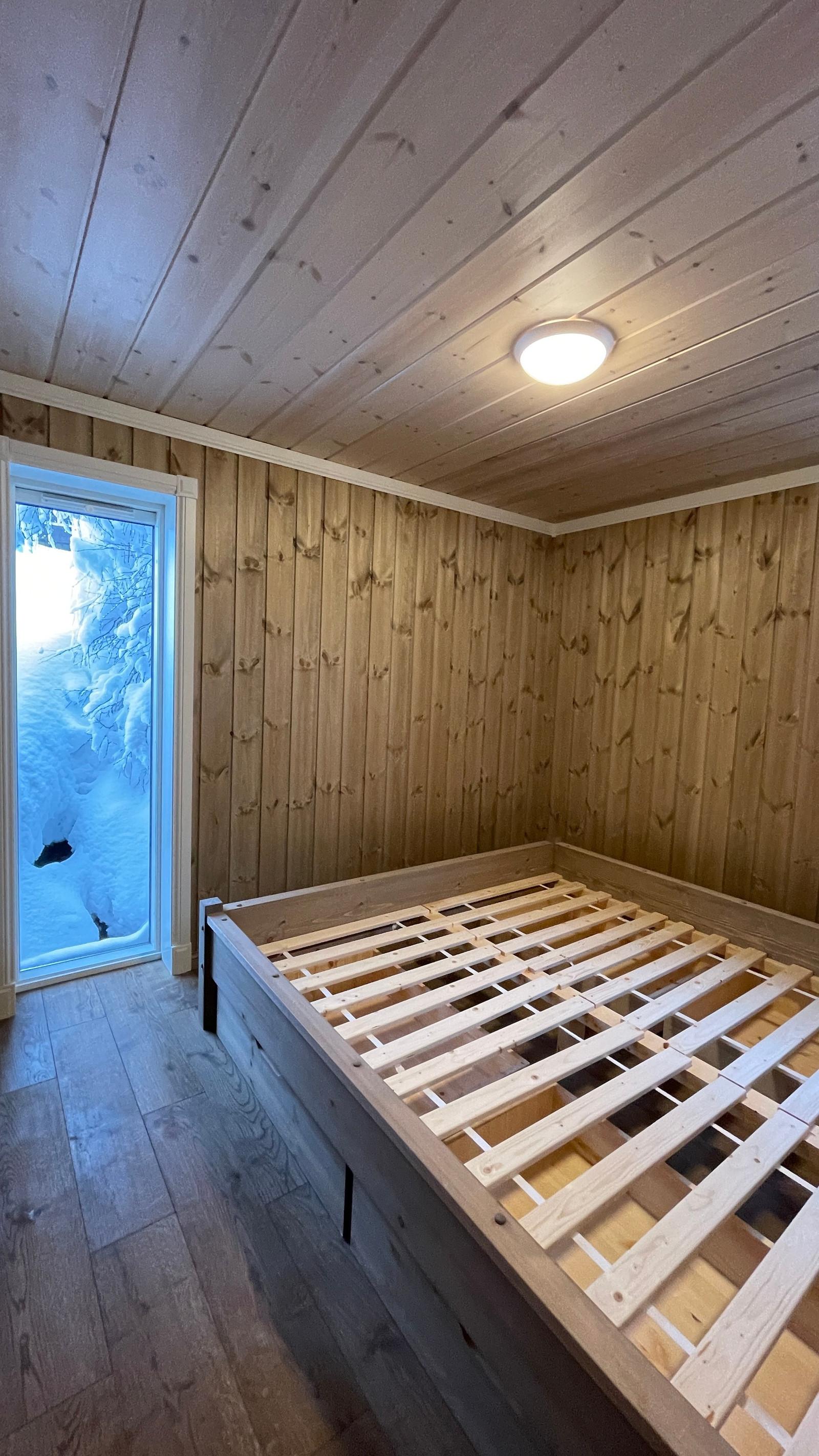Sov 1. plass bygget senger.