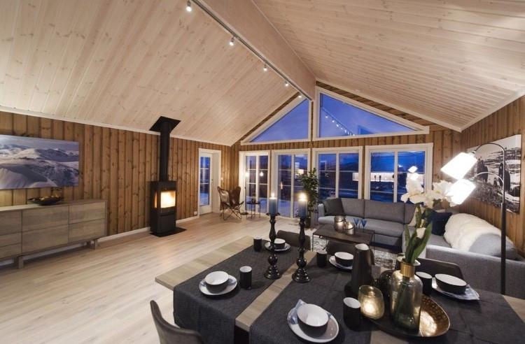Kundebygget hytte. Denne er tilsvarende prosjektert hytte