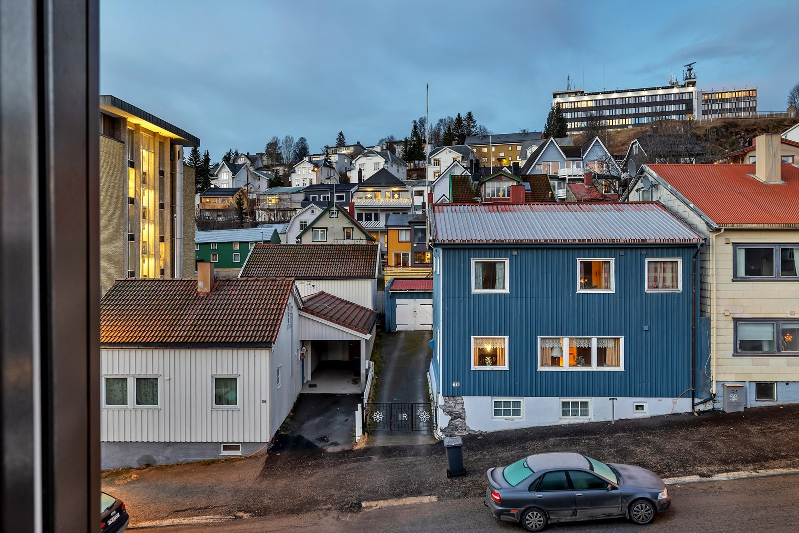Utsikt fra leiligheten