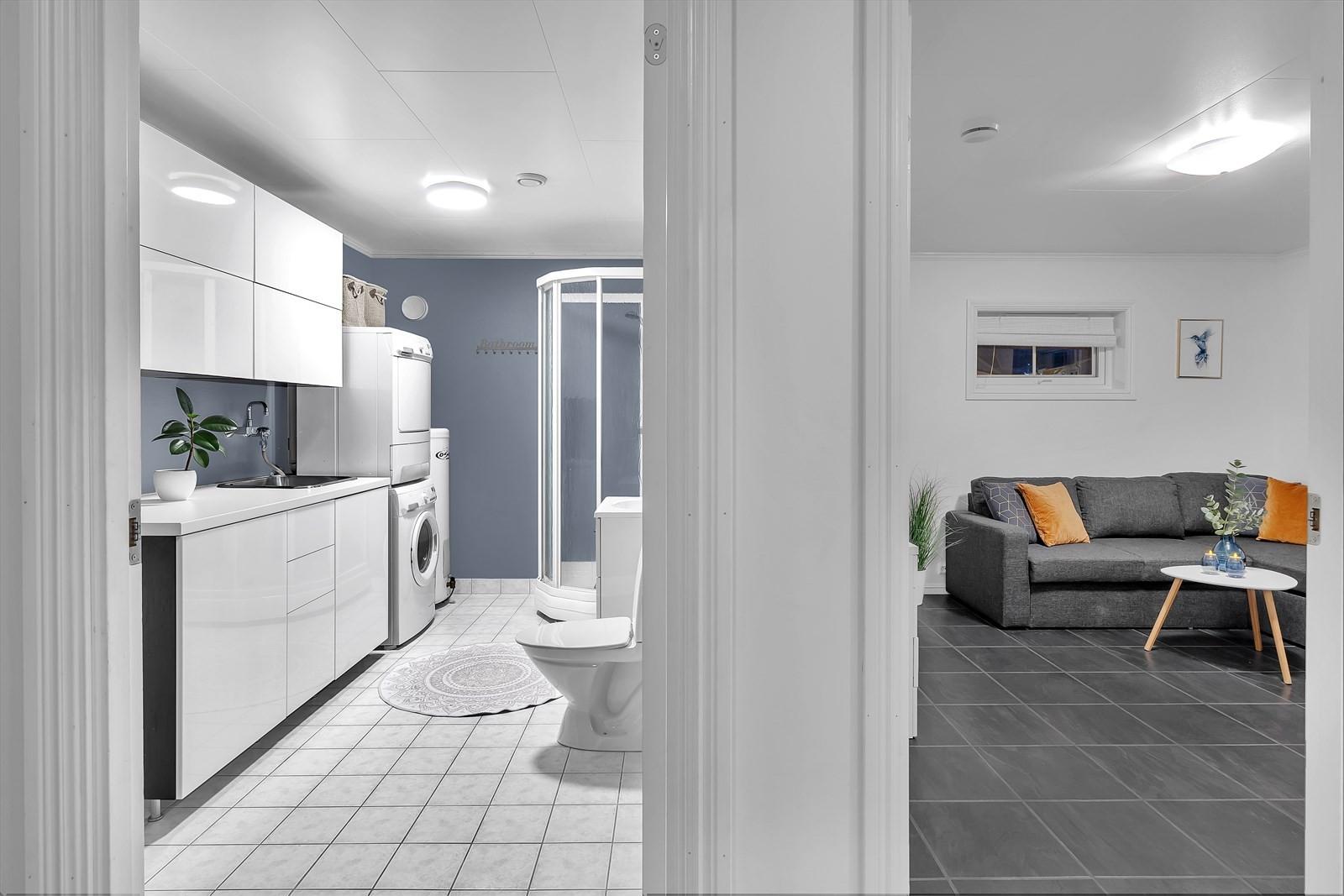 Vaskerom / bad og kjellerstue