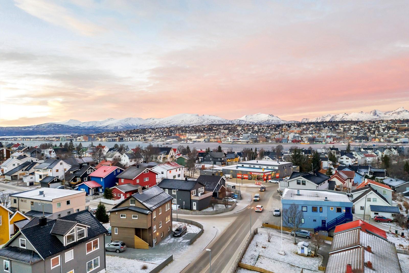 Sentralt plassert midt i Tromsdalen