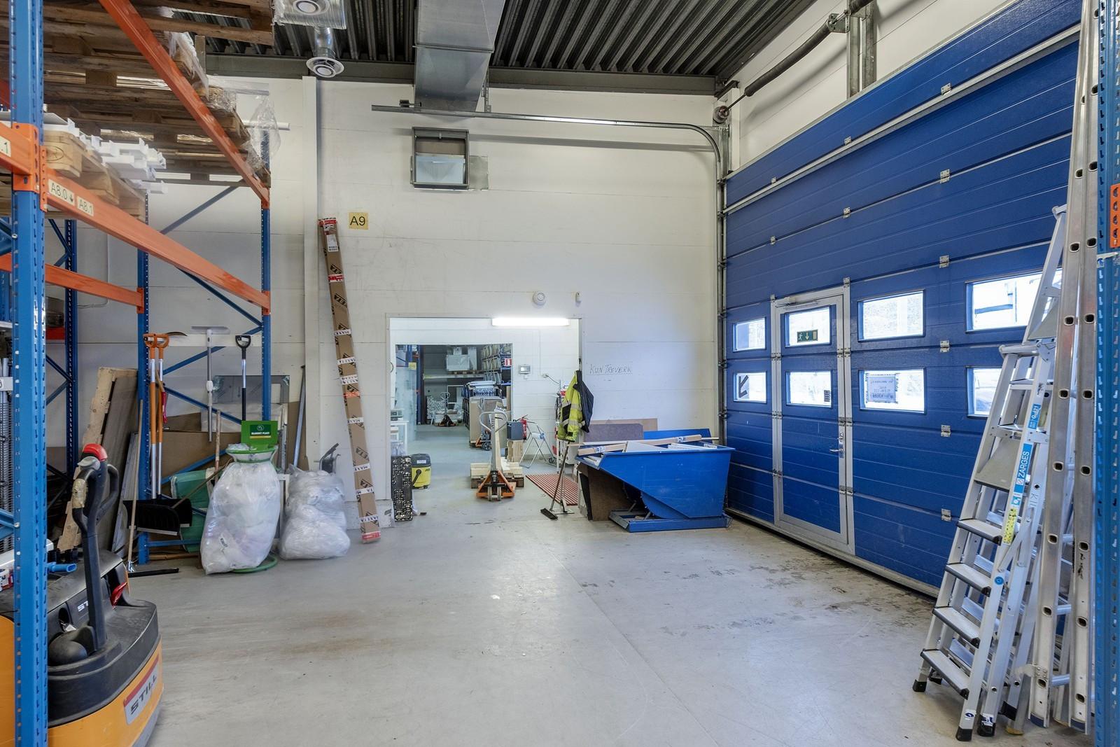 Kjøreport til lager - gjennomgang mellom lagerhaller - Takhøyde 5m