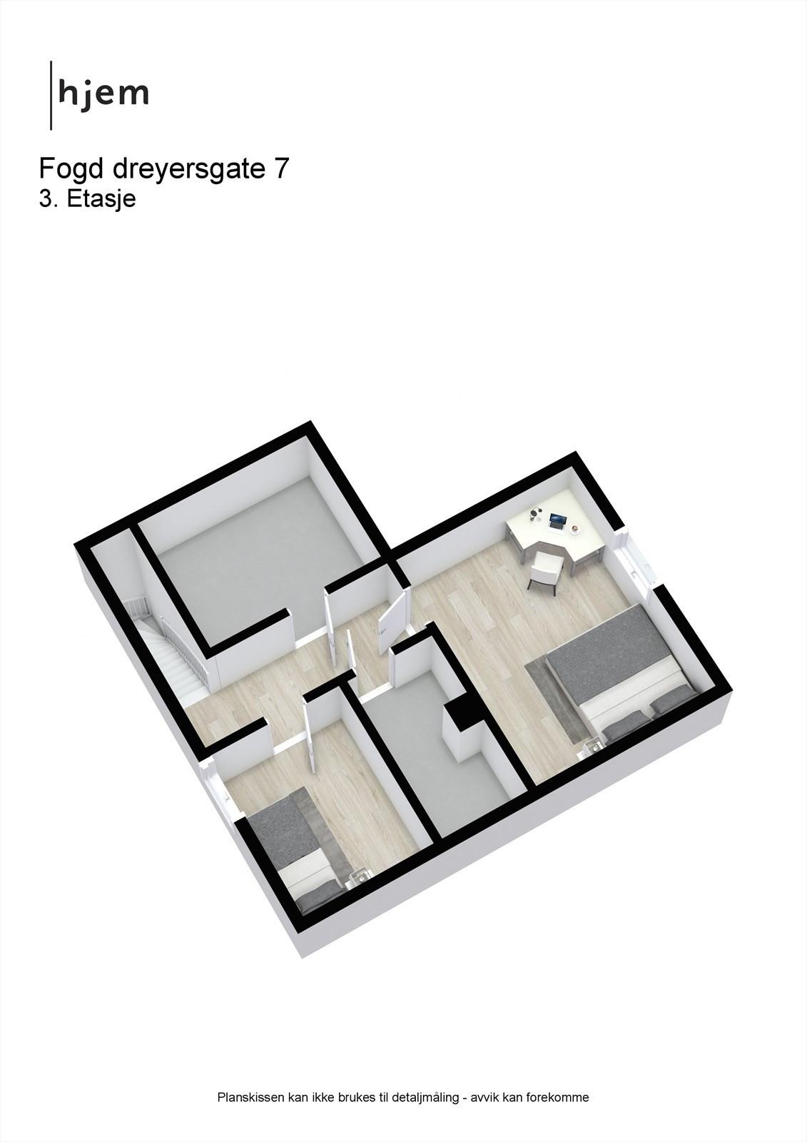 Fogd dreyersgate 7 - 3D - 3. Etasje
