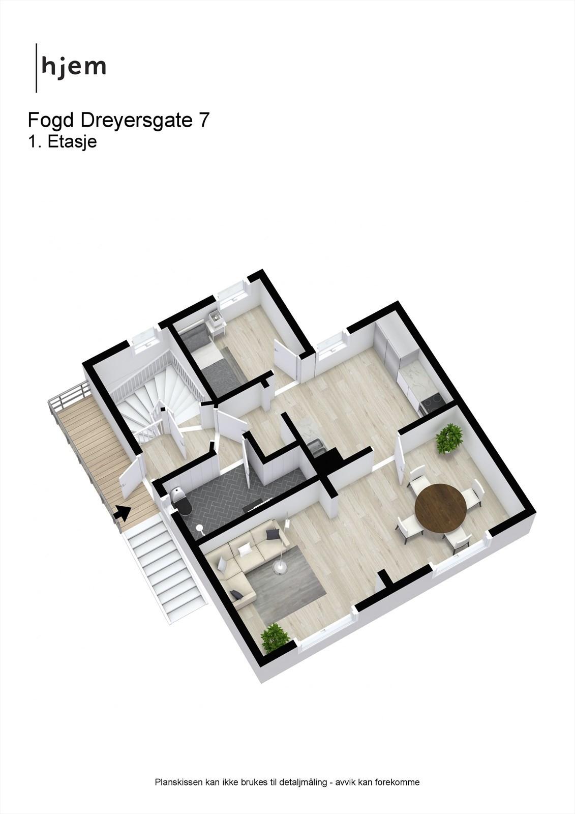 Fogd Dreyersgate 7 - 3D - 1. Etasje