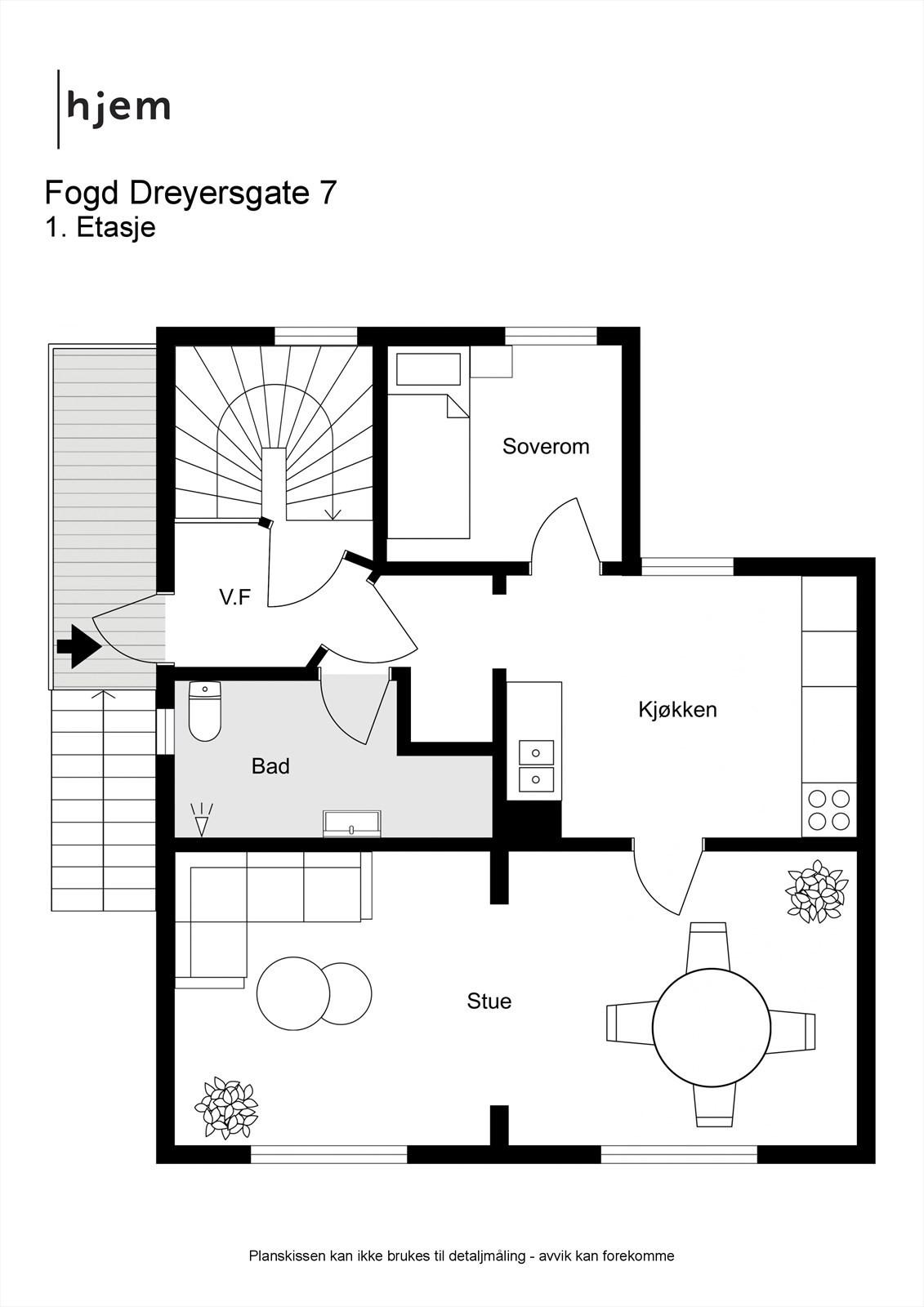 Fogd Dreyersgate 7 - 2D - 1. Etasje
