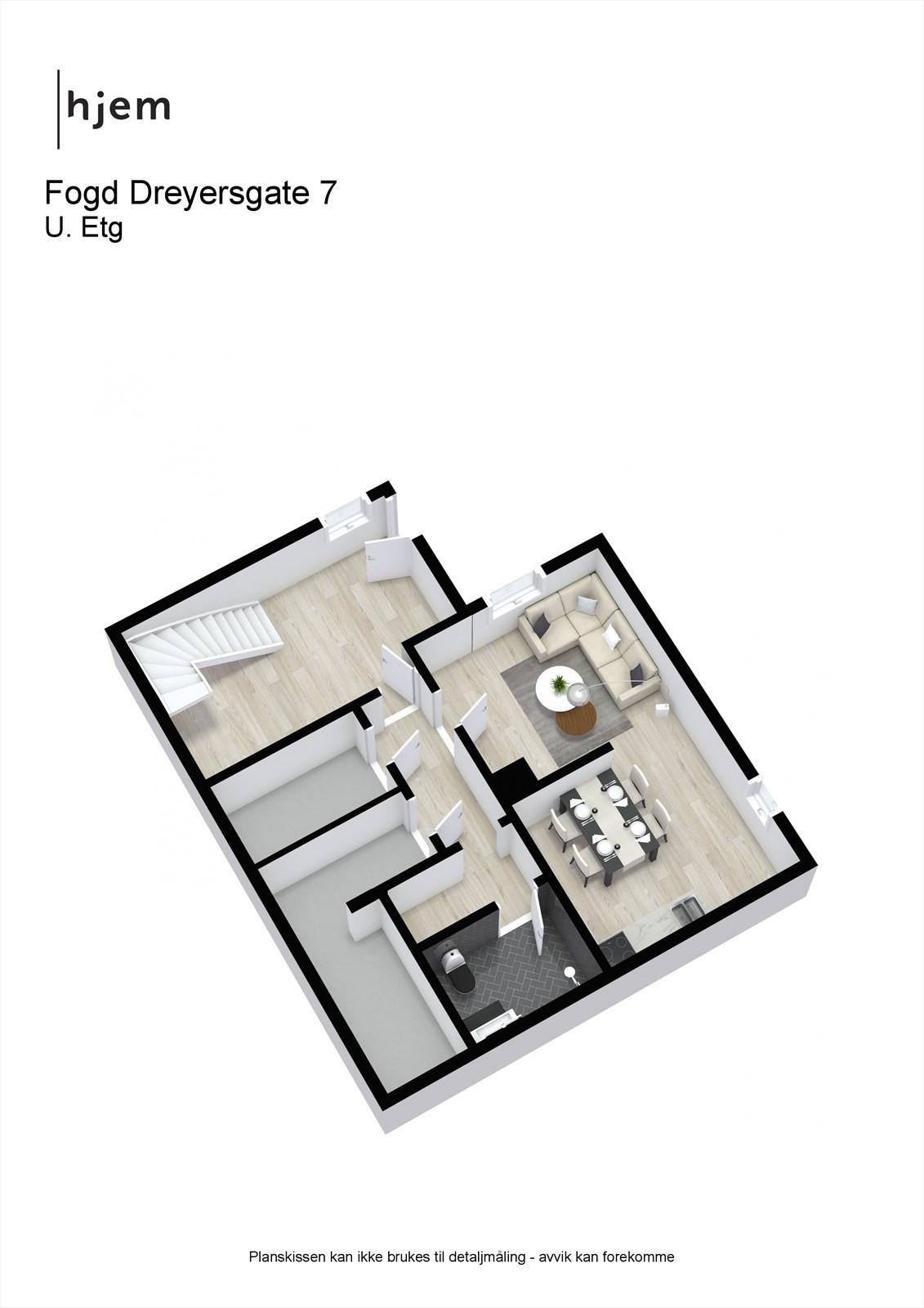 Fogd Dreyersgate 7 - 3D - U. Etg