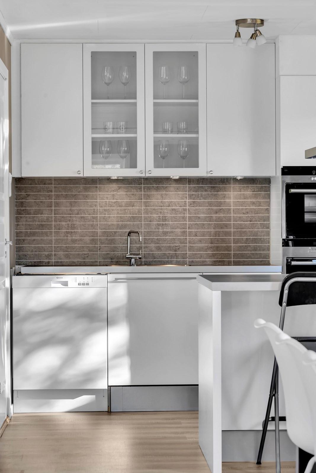 Kjøkkenet er fra 2014 og er levert av HTH