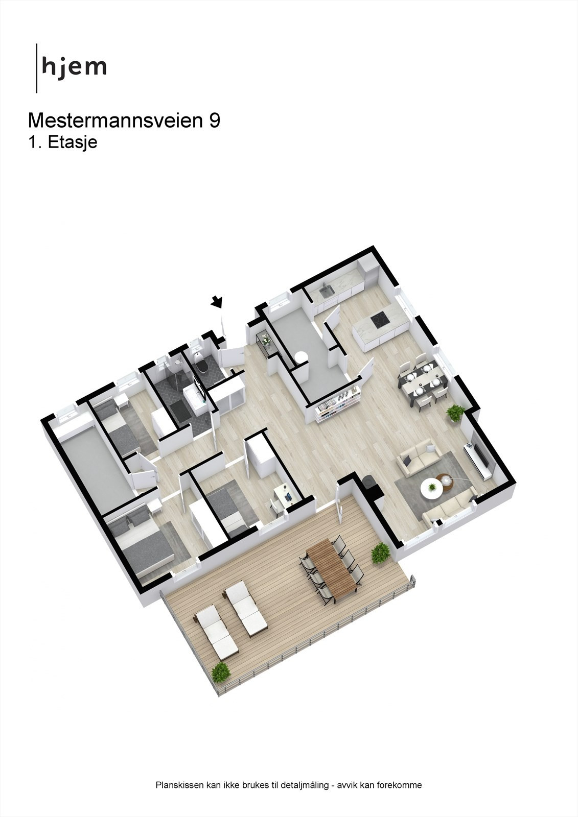 Mestermannsveien 9 - 3D - 1. Etasje