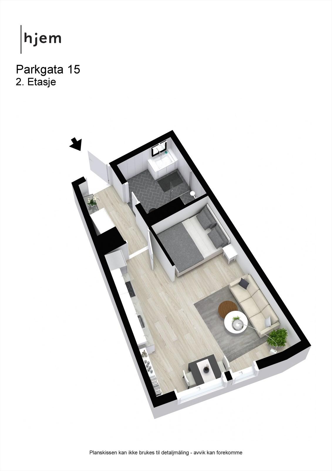Parkgata 15 - 3D - 2. Etasje