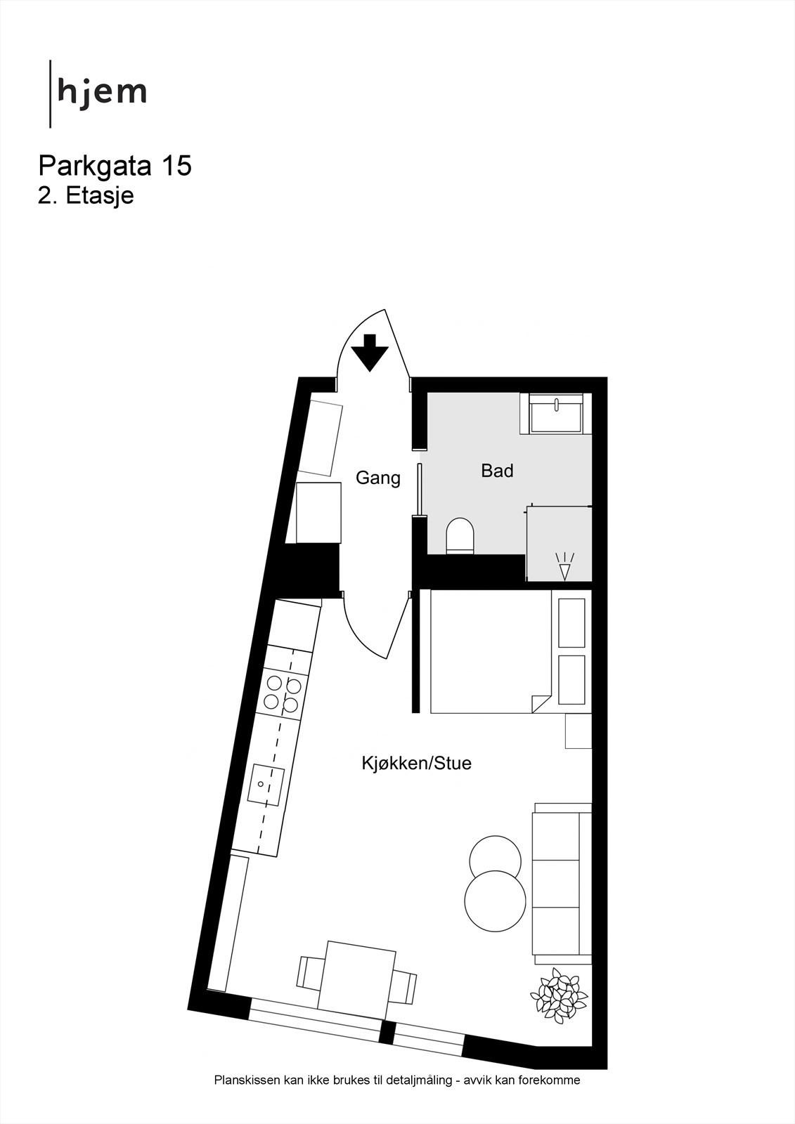 Parkgata 15 - 2D - 2. Etasje