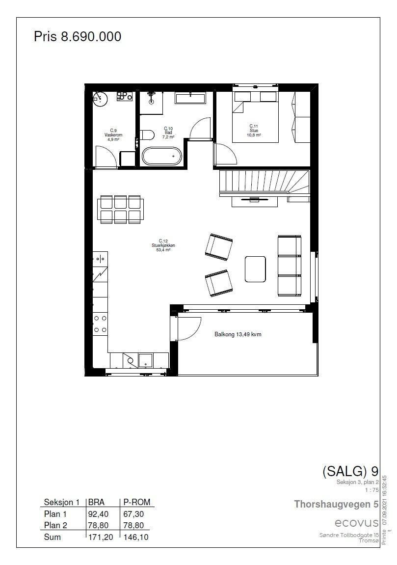 Plantegning Hus C plan 2