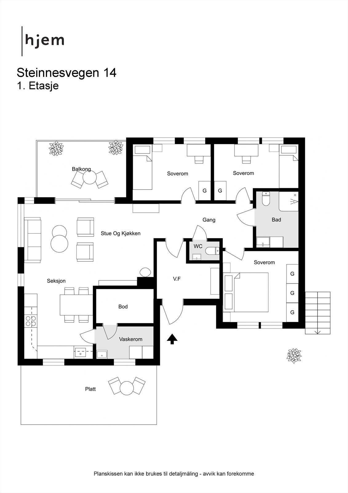 Steinnesvegen 14 - 2D - 1. etasje.