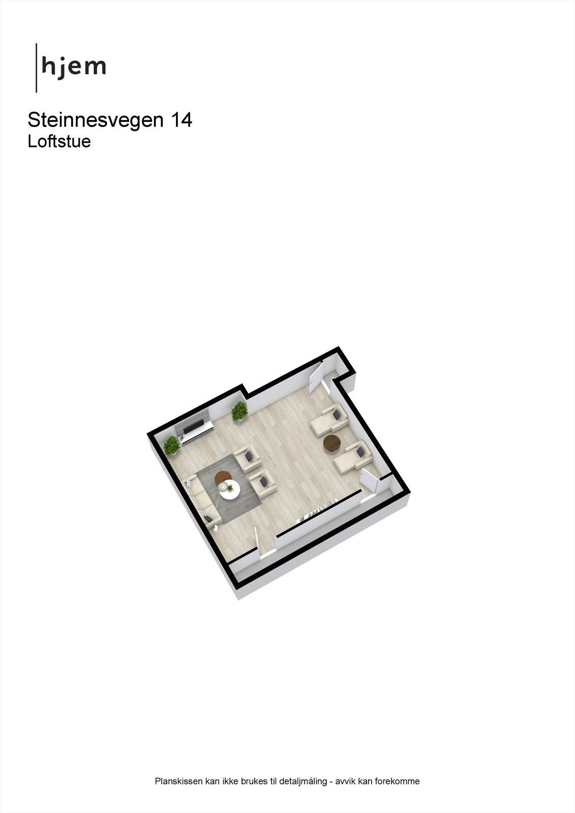Steinnesvegen 14 - 3D - Loftstue.