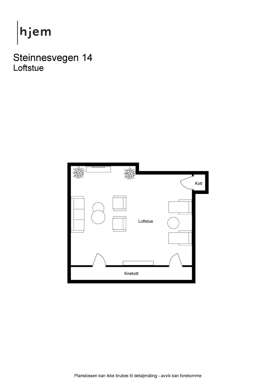 Steinnesvegen 14 - 2D - Loftstue.